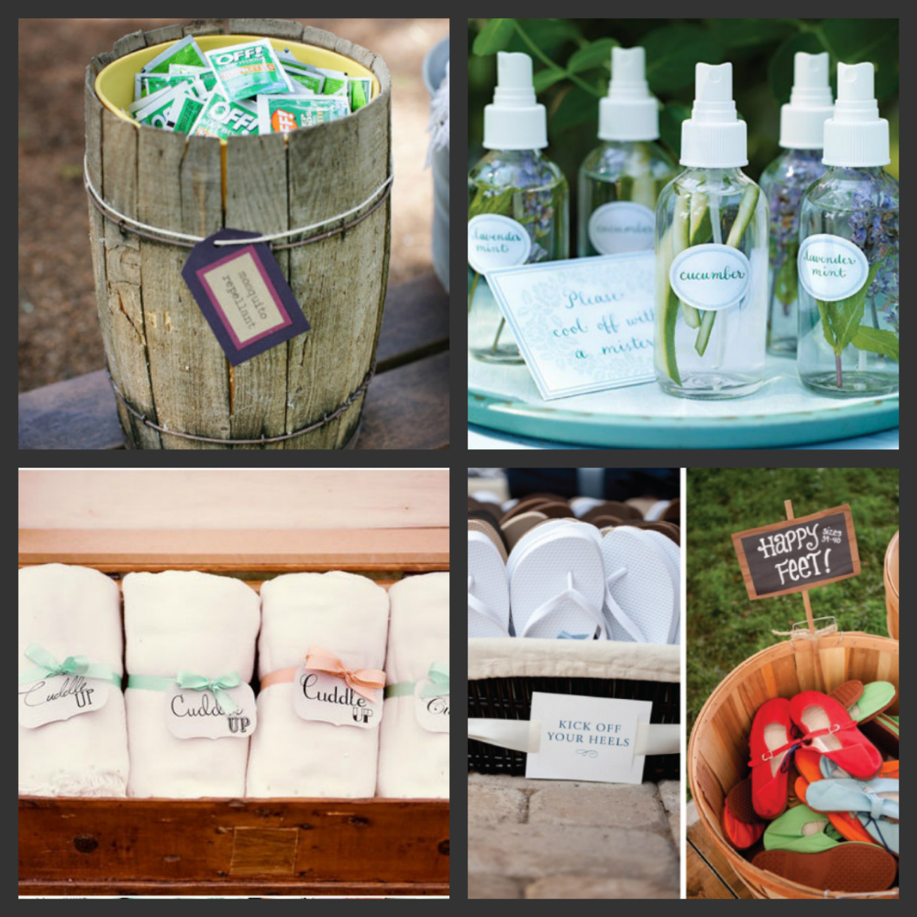 Weddings Are Fun Blog: Thoughtful Touches for Your Outdoor Wedding ...