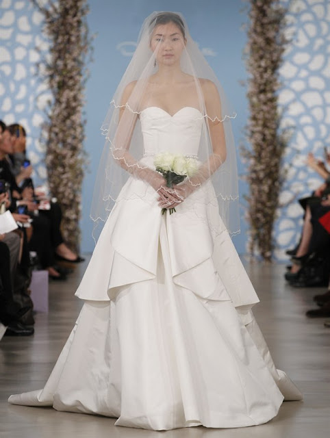 Oscar de la Renta Spring 2014 simple A-line princess Wedding Dresses