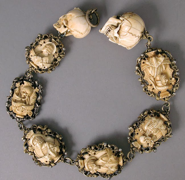 Morbid Anatomy: Ivory Memento Mori-Themed Rosary, Circa 1500-1525 ...