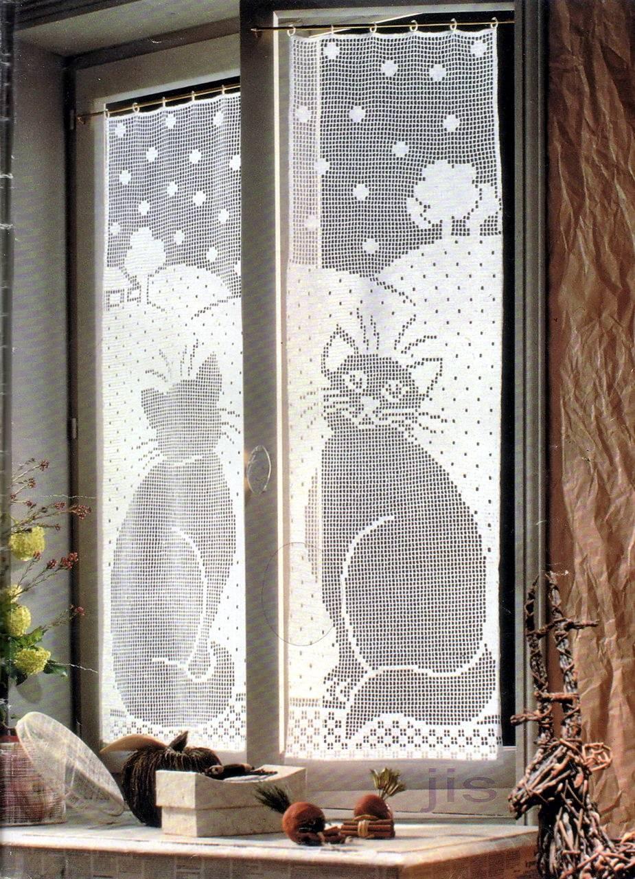Tende a uncinetto stunning amazing sul blog dmc spagna - Tende all uncinetto per finestre ...