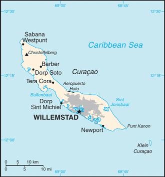 Big Blue 18401940 Netherlands Antilles Curacao