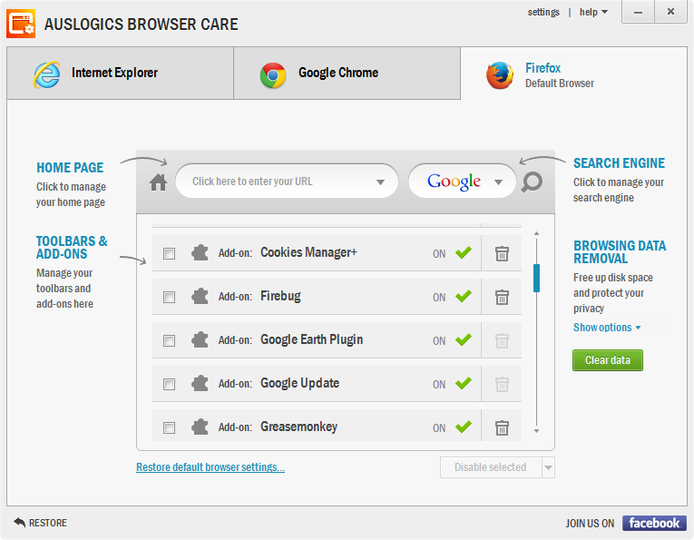Auslogics Browser Care 1.5.4