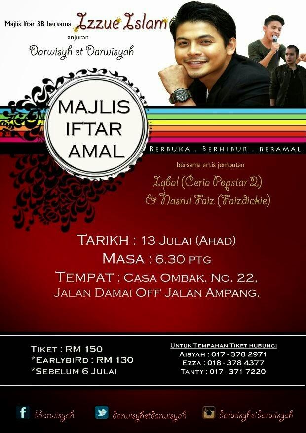 Majlis Iftar Amal bersama Izzue Islam, Iqbal (Ceria Popstar2) & Faizdickie