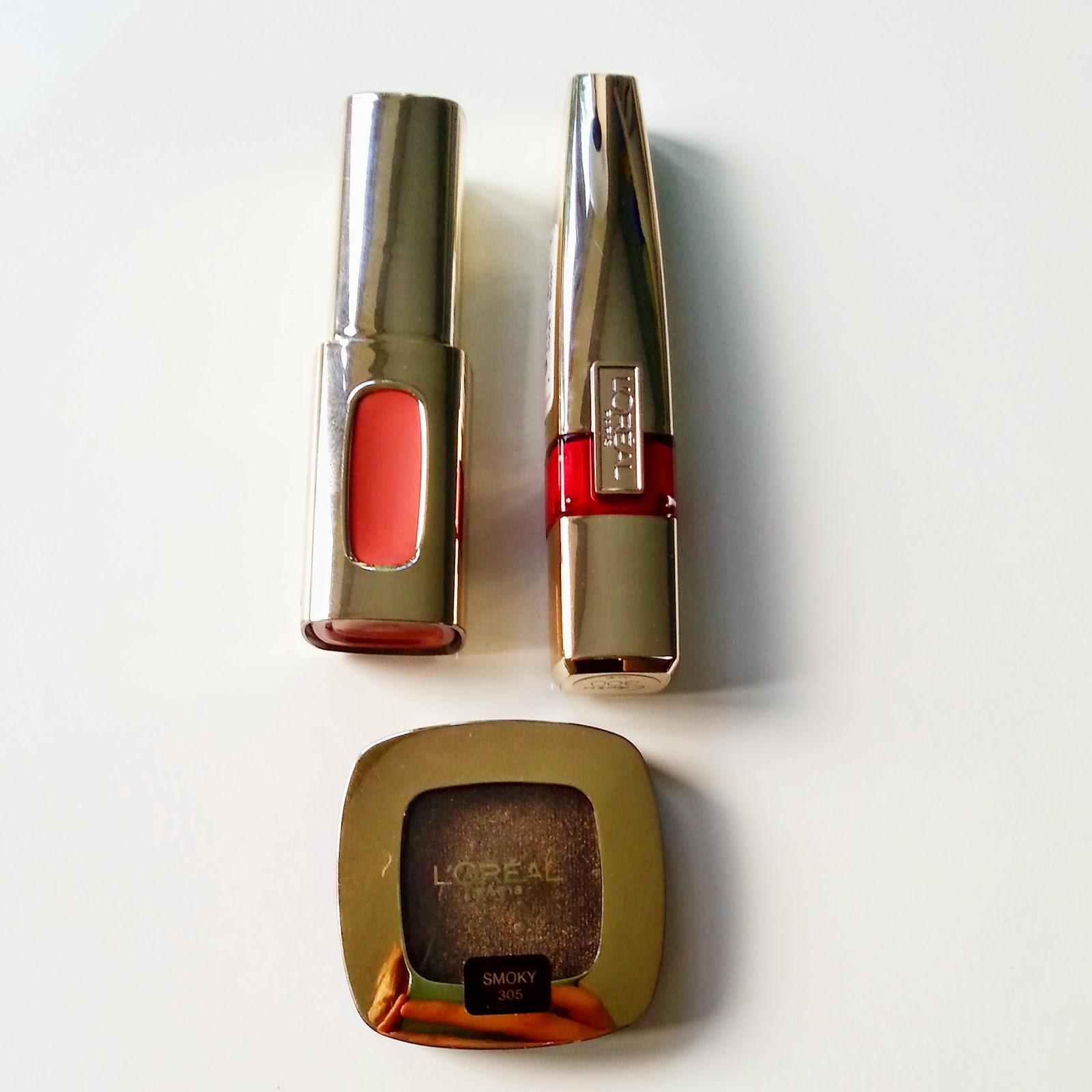 L'Oreal Lipgloss and eyeshadow