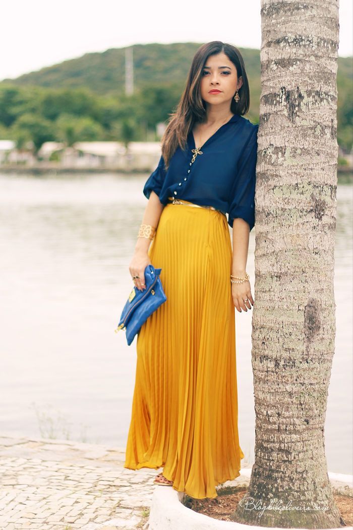 Sunny With A Chance Of Lemons Summer Style Pleated Maxi