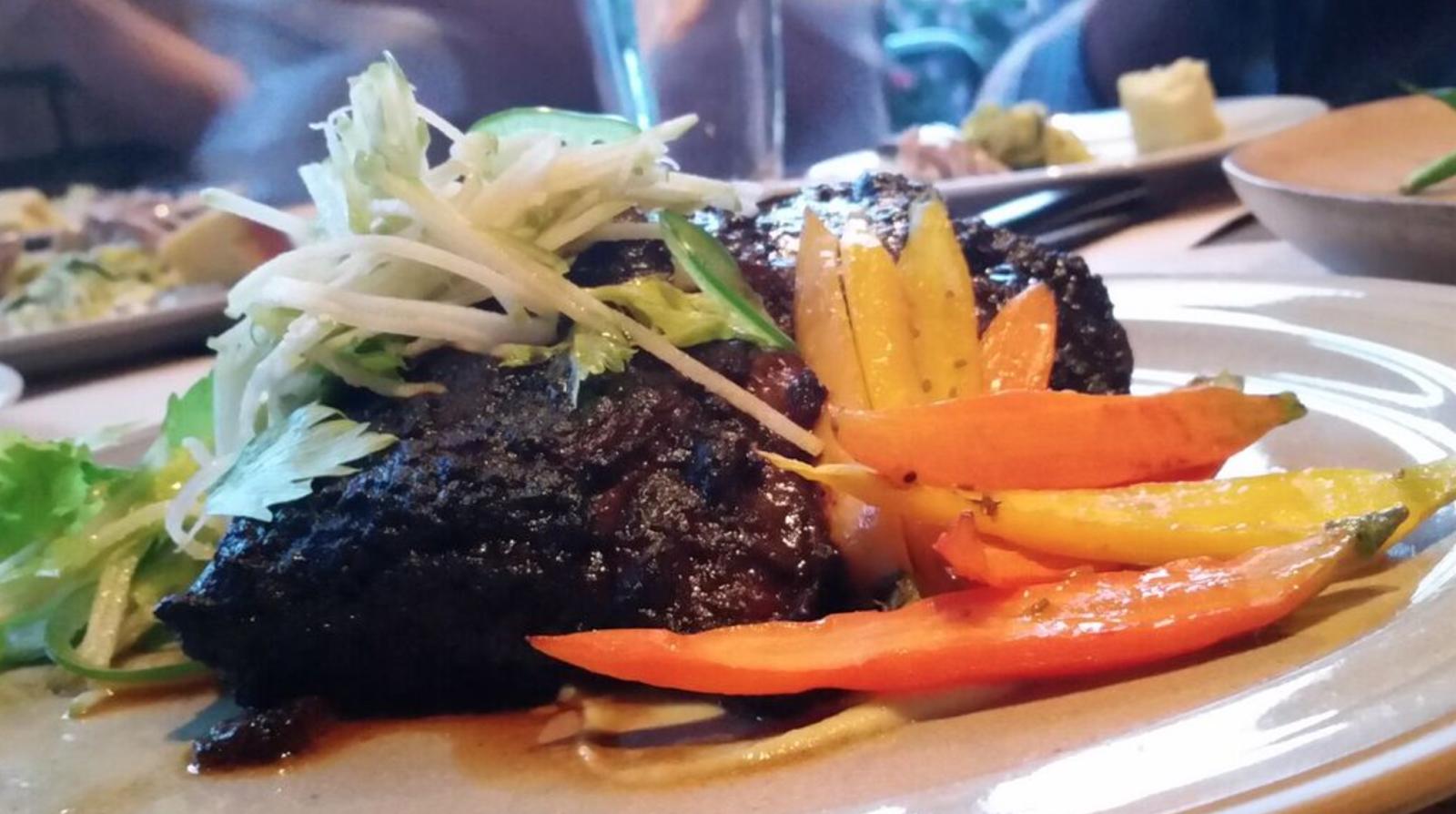 hearth roasted red snapper lemongrass spoon bread summer squash 26 - Slate Restaurant 2015