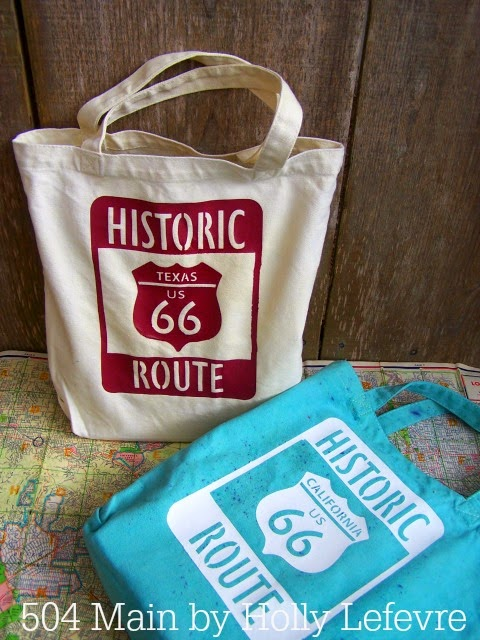 Texas and Californai Route 66 bags