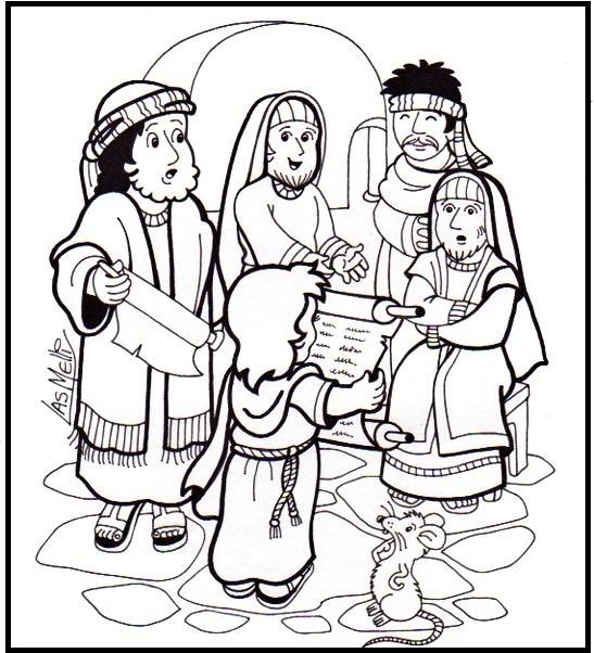 Blog para una Navidad Feliz: Colorea la Infancia de Jesús