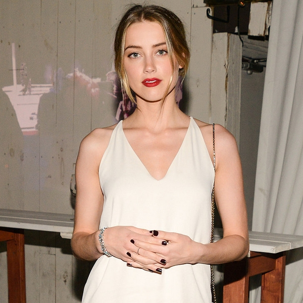 Amber Heard white dress