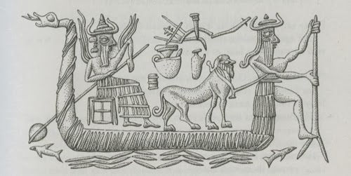 Babylonian boat to the afterlife