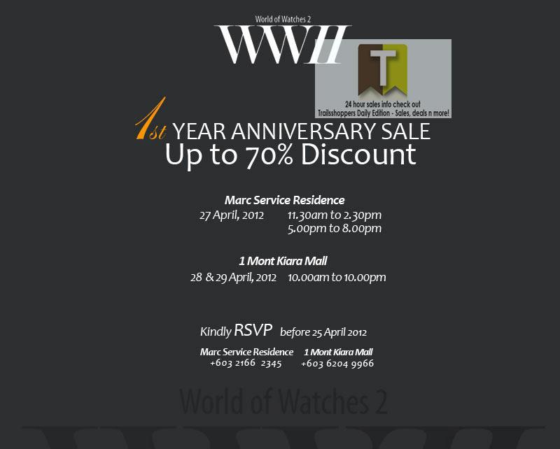 1st anniversary sale ~ Wwii st anniversary sale watches apr
