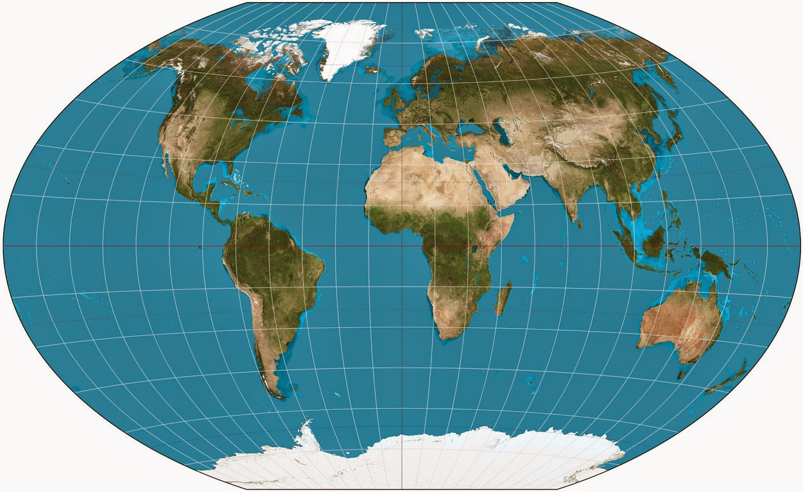 Image of the entire globe
