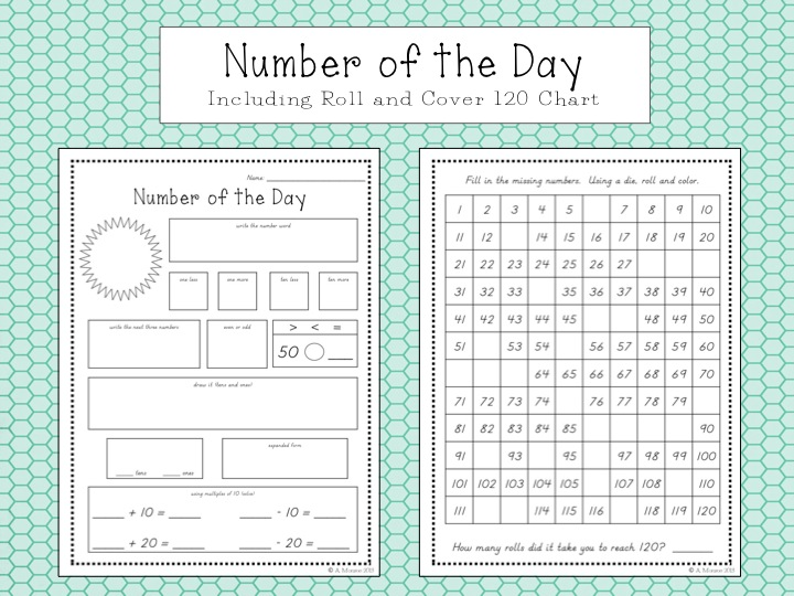 School Is a Happy Place March 2013 – Number of the Day Worksheet