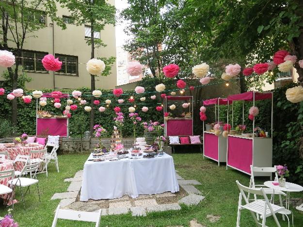 Decoraci n fiesta jard n Decoraciones para jardines de casas