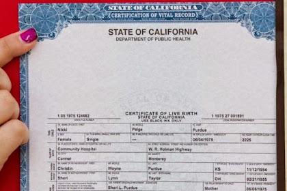 Adoption Birth Certificate California