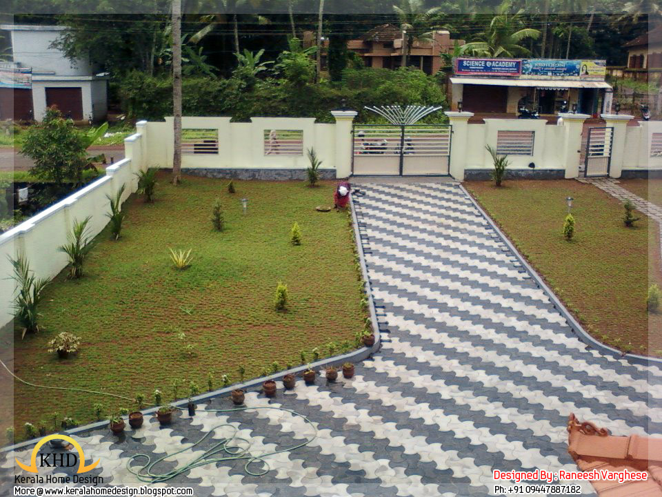 Landscaping design ideas kerala home design and floor plans for Home lawn design