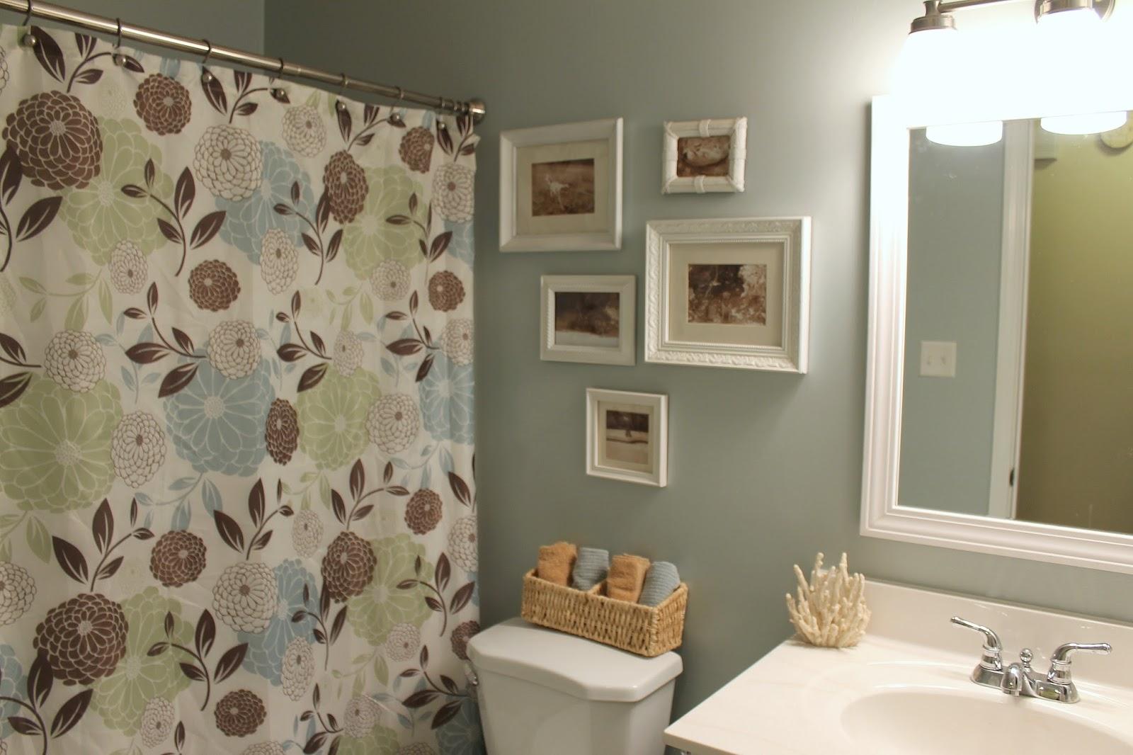 Sherwin Williams Rainwashed Bathroom. Bathroom Upgrade Rainwashed Lightened