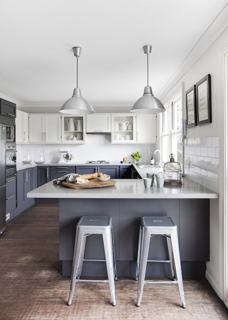 White Grey Pastels Dwukolorowe Meble Kuchenne Two Color Kitchen