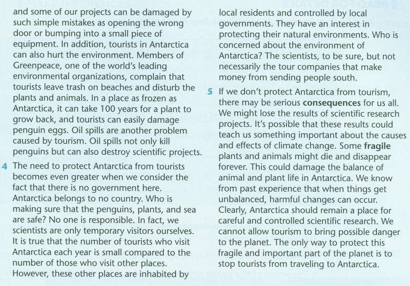 ecotourism in antarctica essay The essay question is 'should tourists visit antarctica', but i've missed loads of lessons so i have no idea we have a source sheet to use, and so.