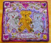 Hooked Rug: 3 Bears