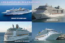 LOS BARCOS DE MIS CRUCEROS