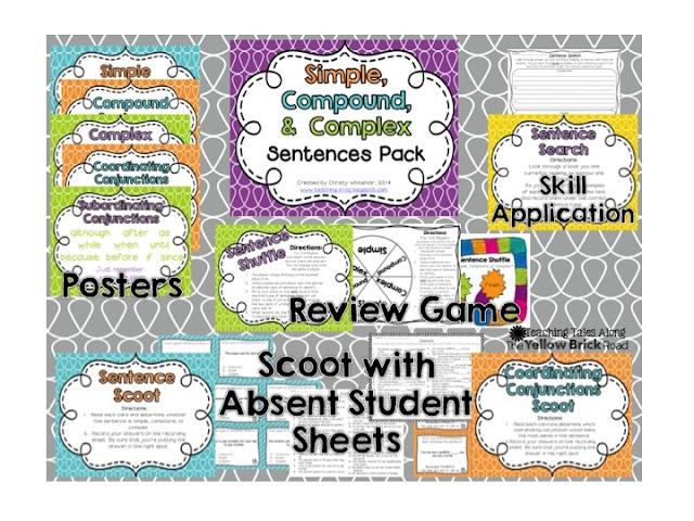 https://www.teacherspayteachers.com/Product/Simple-Compound-Complex-Sentences-Review-Pack-1091799