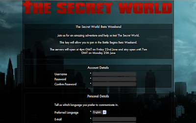 The Secret World - Account Creation