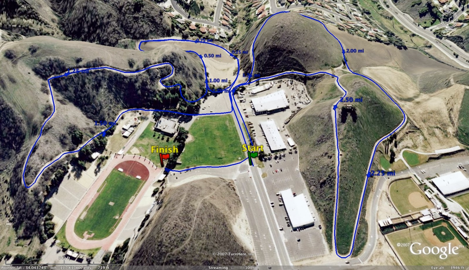 Valley Christian Track Field Watch The Warriors At The Mt Sac - Mt sac campus map