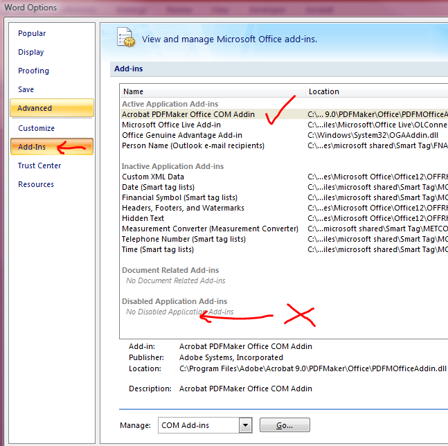 how to disable microsoft office 2007 product key