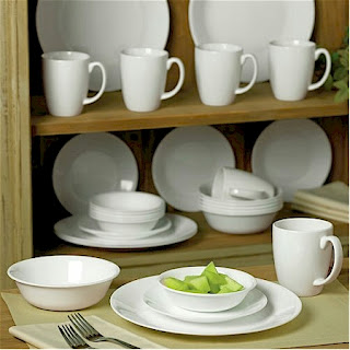 Amazon has got a great special on the Corelle Livingware Winter Frost White 30-piece dinnerware Set service-for-6 $36.37 with free shipping. & Daily Cheapskate: Corelle