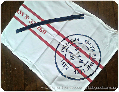 Chamomile and Peppermint Blog - DIY Nautical Cushion from a Tea-towel