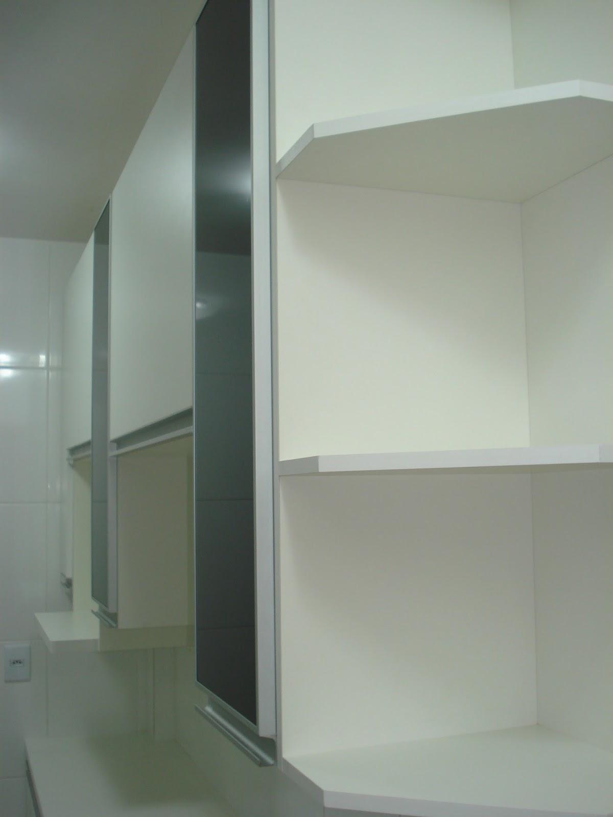 #596150 Planejados: Cozinha (Padrão Branco) Portas em 18mm Puxadores em  534 Janelas Em Aluminio Em Belo Horizonte