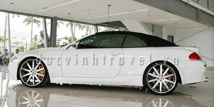 Cho thuê xe 4 chỗ VIP BMW M6 trắng 1
