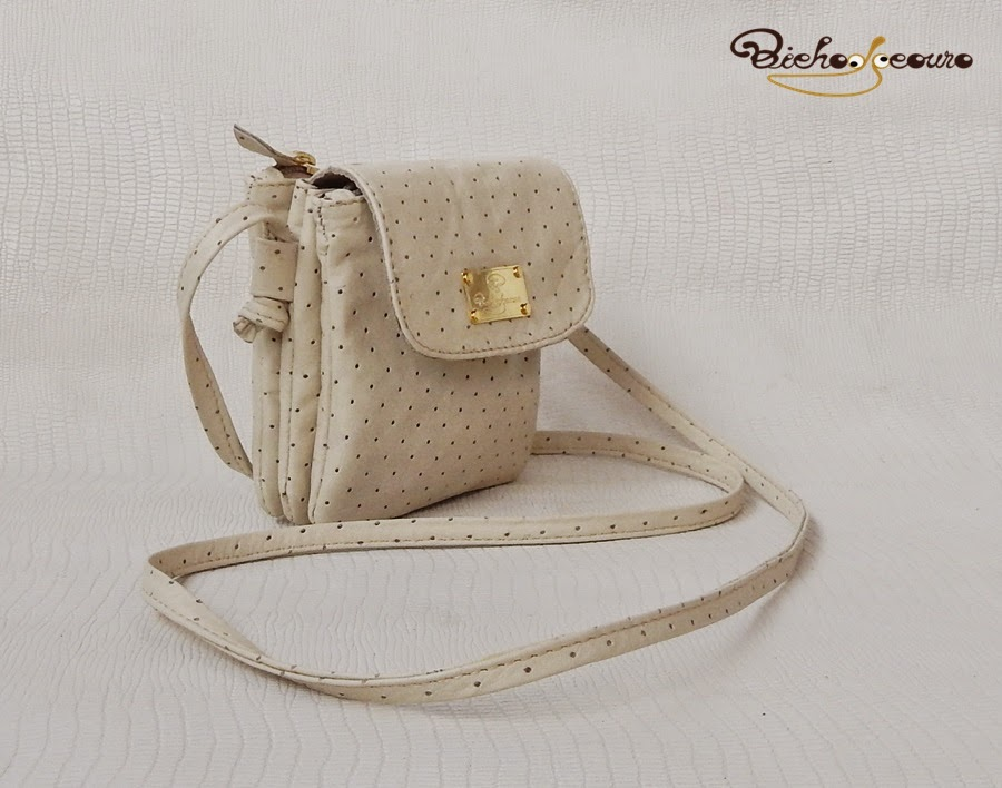 bolsa branca vintage
