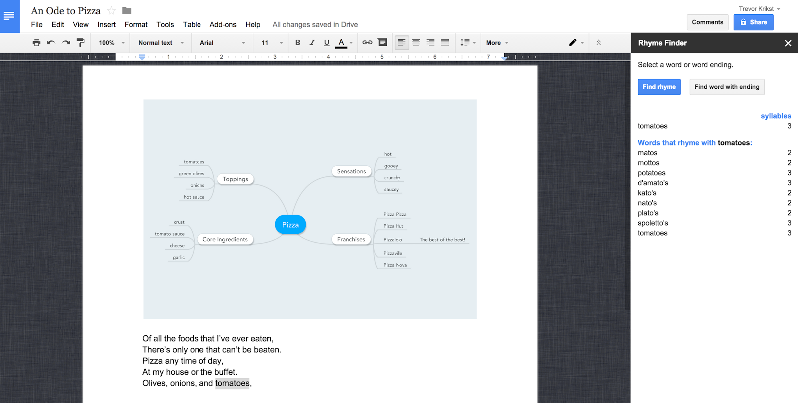 poetry rocks in google docs! | inquire and inspire