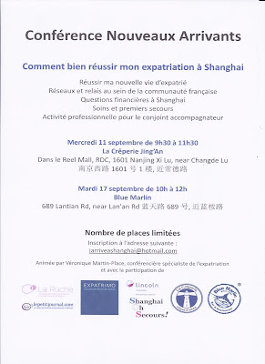 Flyer - Conferences nouveaux arrivants a Shanghai