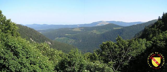 La ligne Bleue des Vosges avec ses forêts depuis le Col de la Schlucht.