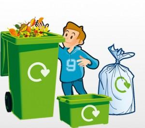 Niño reciclando