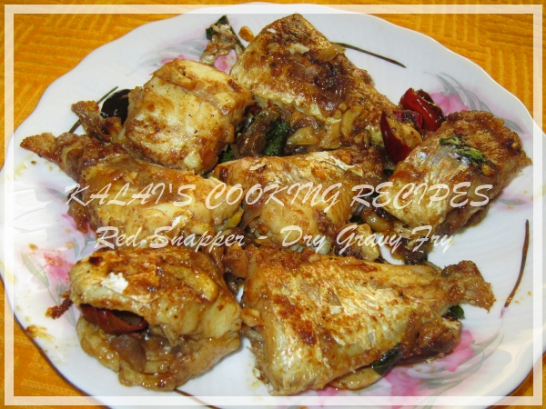 Red Snapper / Sankara - Dry Gravy Fish Fry