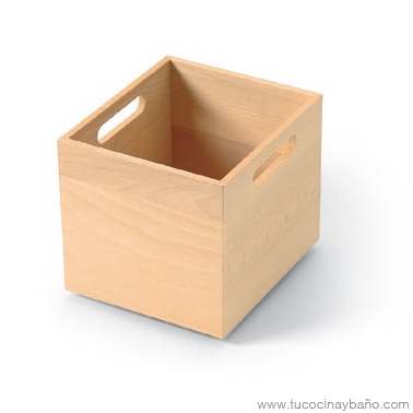 caja madera cajon gavetero asas