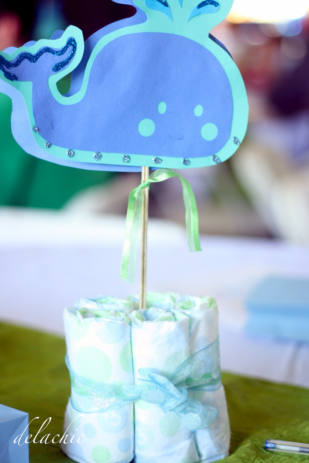 delachic whale themed baby shower