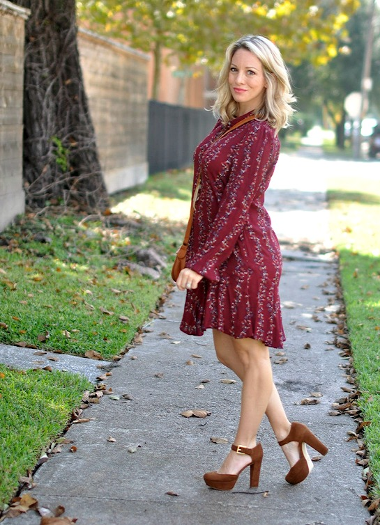 Fall Fashion - Free People Button Front Shirtdress