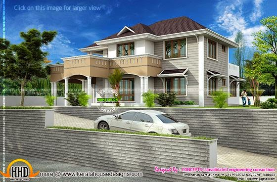 Western style design with slightly modified elevation