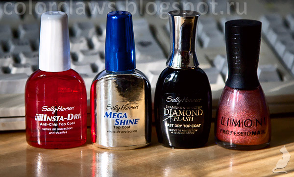 Sally Hansen Insta-Dri, Mega Shine, Diamond Flash, Limoni #204