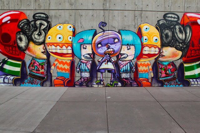 Beautiful graffiti by David Choe by the Performing Arts Center in Denver.