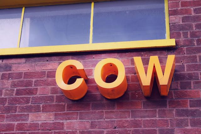 cow vintage birmingham sign