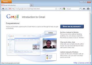 pendaftaran gmail selesai