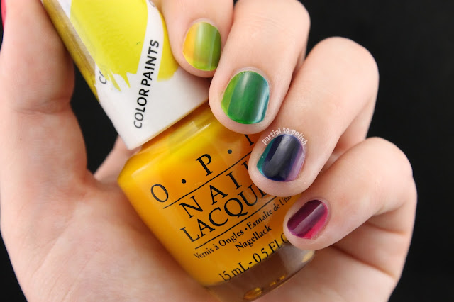 OPI Color Paints Rainbow Horizontal Gradient