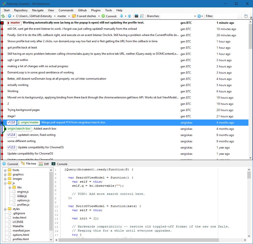 Lithium's blog: Github, Git, Git Extensions, using Git