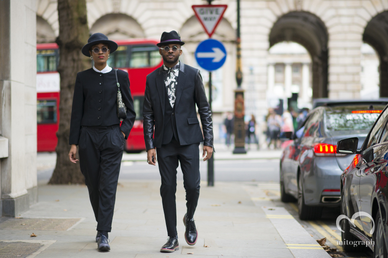 Donya Patrice Campbell and Martell Campbell at London Fashion Week 2015 Spring Summer LFW